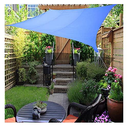 YUDEYU Rectángulo Vela de Sombra Toldos Vela Solar Canopy Pabellón jardín Patio Paño de Oxford Impermeable 95% de protección Solar Anti-UV Red de sombreado (Color : Blue, Size : 3 x 4m)