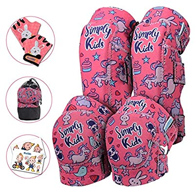 Simply Kids Knee Pads for Kids I Kids Knee and Elbow Pads for Kids 5 8 I Kids Knee Pads I Toddler Knee Pads I Protective Gear Set for Kids Boys Girls Child Children Ice Skating Bike Roller Skateboard