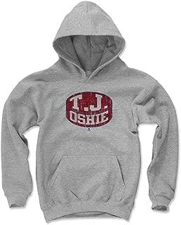 500 LEVEL T.J. Oshie Washington Hockey Kids Hoodie - T.J. Oshie Puck
