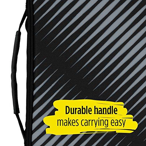 Five Star Zipper Binder, 2 Inch 3 Ring Binder, 6-Pocket Expanding File, Durable, Black (72536) Photo #8