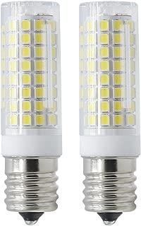 E17 LED Bulb for Microwave Oven Over Stove Appliance, 7 Watt(75W Halogen Bulbs Equivalent), 110-130V, Intermediate Base, Dimmable, 2-Pack (Daylight White)