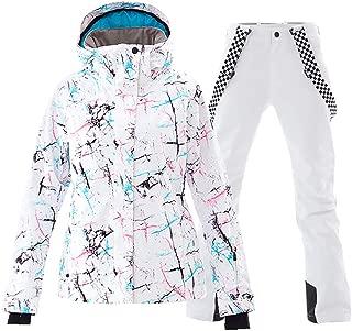 Mous One Women's Waterproof Ski Jacket Colorful Snowboard Jacket and Bib Pant Suit