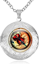 Women's Custom Locket Closure Pendant Necklace Violin Musical Instruments Included Free Chain, Best Gift Set