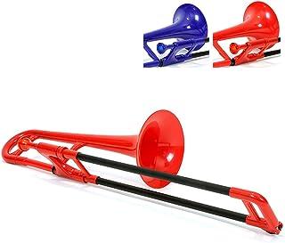 Pbone 700638 - Trombón con boquilla y funda, color Rojo
