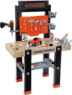 Smoby - BLACK+DECKER - Etabli Bricolo Center - Jouet Bricolage Enfant - 92 Accessoires - 1 Perceuse + Voiture à Construire...