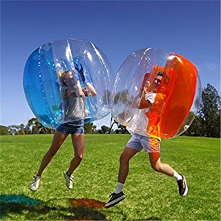 2PCS Inflatable Bumper Ball Bubble Soccer Ball Blow Up Toy Inflatable Bumper Bubble Balls for Adults or Child PVC Collision Ball
