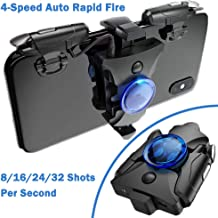 PUBG Mobile Controller- 4-Speed Auto Rapid Fire [8/16/24/32 Shots per Second], Mobile Game Controller w/ L1R1 Shooting Tri...