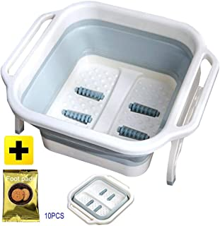 Foot Massagers, Foot Bath Barrel Foldable Portable Foot Soaking Large Thicken