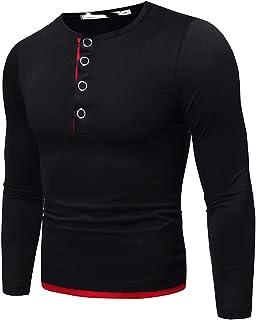 Mr.BaoLong&Miss.GO Otoño E Invierno Camiseta De Manga Larga para Hombre Suéter De Hombre Camisa De Tamaño Europeo, Camiset...