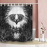 FANG2018 Halloween Monster Badezimmer Duschvorhang Durable Stoff Schimmel Bad Zubehör Kreativ mit 12 Haken 180 x 180 cm