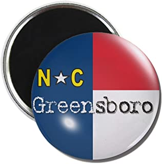 CafePress - Greensboro North Carolina Flag - 2.25