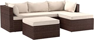 Best small rattan corner sofa set Reviews