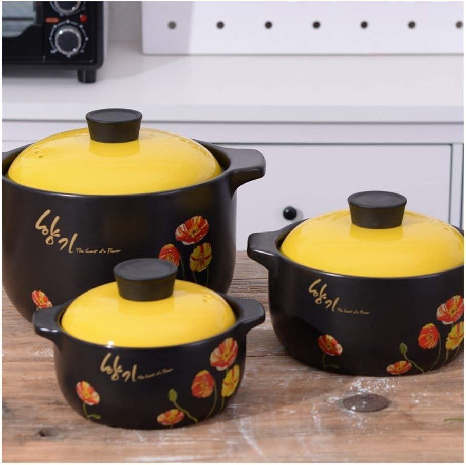 HUIJUNWENTI Noir Grande Casserole Haute température en céramique Soupe Casserole Casserole Soupe Casserole Casseroles Ragoût céramique Pot de Cuisine Pot (Color : 1.6L) 1.6l