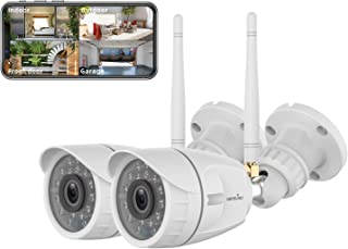 Outdoor Security Camera, Wansview 1080P Wireless WiFi Home Surveillance Waterproof Camera..