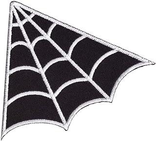 Titan One Europe Black Spider Web Wing EMO Rockabilly Punk Jacket Patch Telaraña Parche Bordado Termoadhesivo