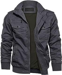 TACVASEN Men's Jacket-Military Casual Cotton Lightweight Full Zip Spring Fall Outwear Coat
