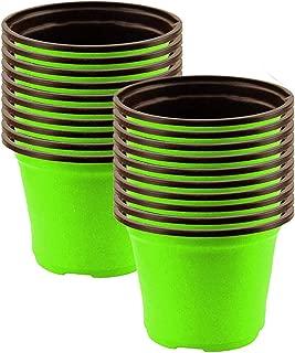 TrustBasket Nursery Plastic Pot 5 inch (Set of 20 Pots) - Green