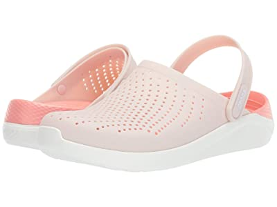 Crocs LiteRide Clog (Barely Pink/White 1) Shoes