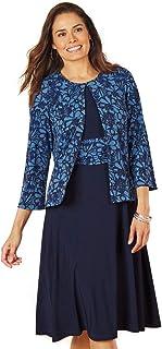 AmeriMark Fit-and-Flare Jacket Dress