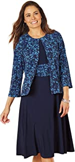 Fit-and-Flare Jacket Dress