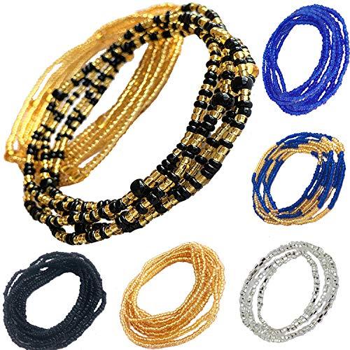 Tuoshei 6 pices Summer Jewelry Waist Bead Set Colorful Waist Bead Belly Bead...