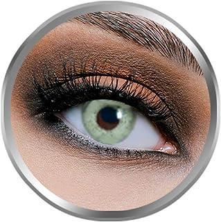 Flex Pure Grayish Contact Lenses, Original Unisex FlexEyes Cosmetic Contact Lenses, 6 Months Disposable, Gray Green Color