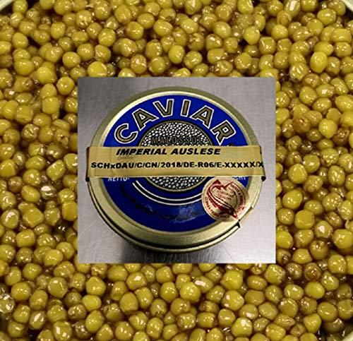 Kaviar Imperial Auslese 50g - mit leichtem und raffiniert buttrigem Geschmack (auch in 100, 125 und 250g Dosen bei uns erhältlich!)