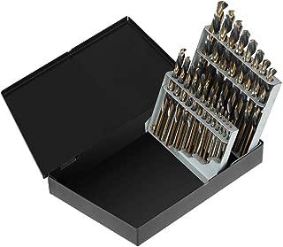 COMOWARE Left Hand Drill Bit Set- 21 Piece, High Speed Steel, Black and Gold, Size 1/16