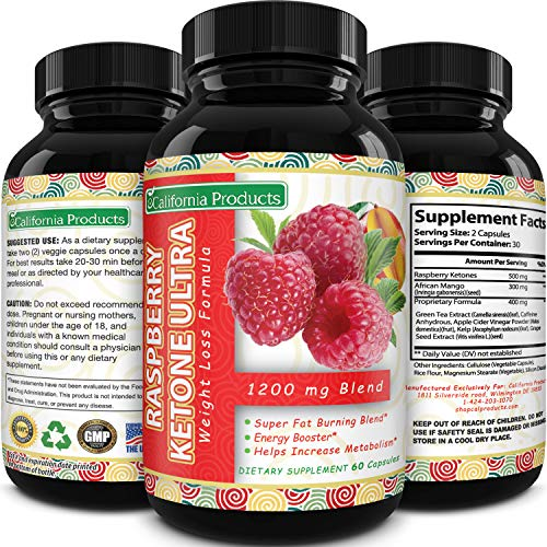 Blend Of Raspberry Ketones, Green Tea Extract And African Mango, Lose Weight Faster with Natural Ingredients To Speed Up Weight Loss, Suppress Appetite & Burn Fat, 60 Capsules