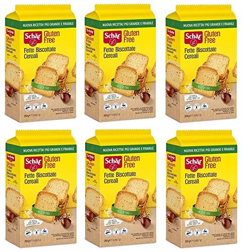 6x Schär Fette Biscottate Cereali Gluten Free Zwieback mit Müsli Gluten-frei 260g