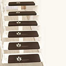 Carpet Stair Treads Indoor and Outdoor Non-Slip Rubber Mats Stairway Carpet Rugs Anti Slip for Pets Dogs Durable and Resis...