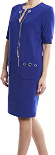 Sapphire Blue Dress With Grommet/Chain Accents Style 174302