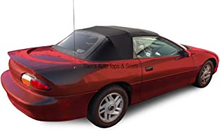 Sierra Auto Tops Convertible Soft Top Replacement, compatible with Chevy Camaro & Pontiac Firebird 1994-2002, w/Plastic Window, Sailcloth Vinyl, Black