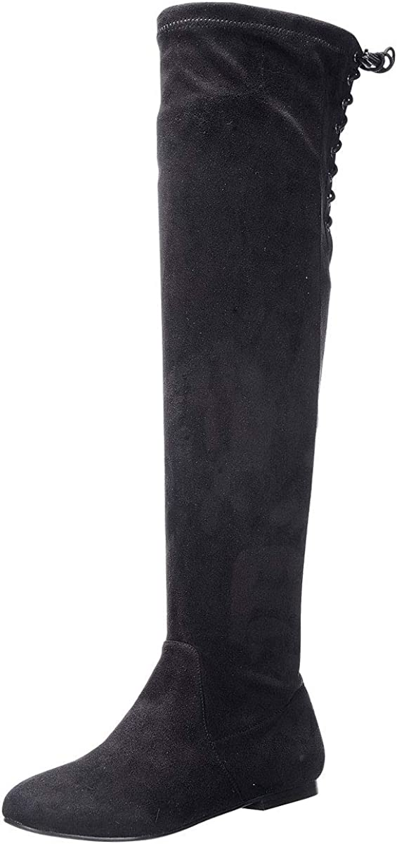 Nature Breeze Women's Vickie-40OK Faux The Knee High 早割クーポン 休日 Suede Over