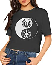 Women's T-Shirt Star Wars SWTOR Yin Yang 1 Color Light Short Sleeves Lumbar Tee