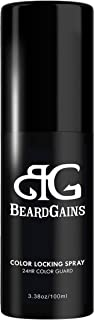 BEARD GAINS 100% Organic Hairs Products   Long Lasting Beard Color Locking Spray, Protects from Fading,Hair Sunscreen, Keeps Color Darker   MADE IN USA