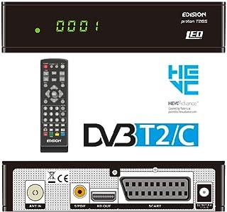 Edision PROTON T265 LED, DVB-T2/C H265 HEVC 10 Bit Hybrid FTA Ricevitore HDTV, Display, HDMI, Scart, S/PDIF, USB 2.0