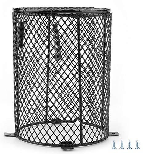 Lampenkap voor reptielenbranden, metalen kap voor reptielenverwarming lampenkap voor daglicht/lampen voor reptielen/verwarmingslamp ect lampenkap voor huisdieren (cilindervorm)