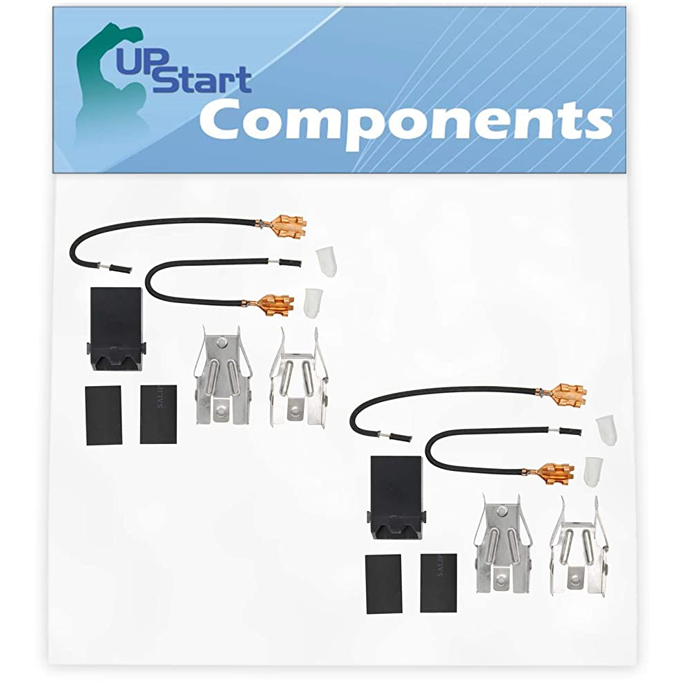2-Pack 330031 Top Burner Receptacle Kit Replacement for Amana 610.002 Range/Cooktop/Oven - Compatible with 330031 Range Burner Receptacle Kit - UpStart Components Brand