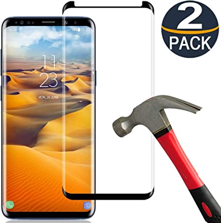 [2 Pack] Samsung Galaxy S8 Plus Screen Protector Tempered Glass Film [Case Friendly