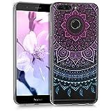 kwmobile Huawei Honor 8 Pro Hülle - Handyhülle für Huawei Honor 8 Pro - Handy Case in Indische Sonne Design Blau Pink Transparent
