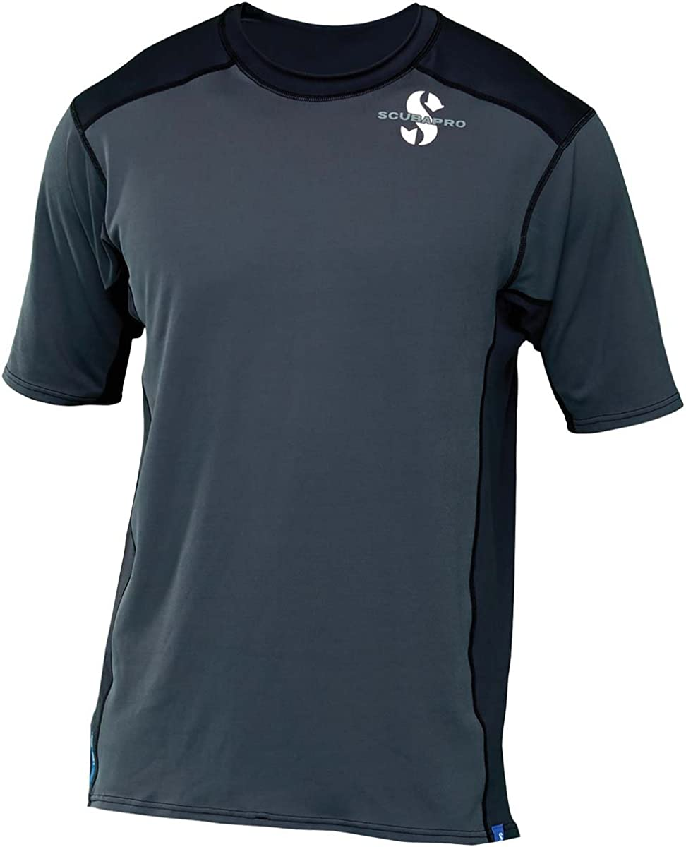 Scubapro Super sale Men's UPF 50 High order Channel Flow Sleeve Short Rash Guard