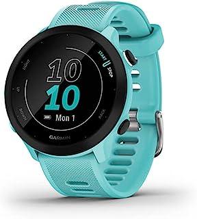 Garmin Forerunner 55 ، ساعت مچی GPS در حال اجرا با تمرینات پیشنهادی روزانه ، حداکثر 2 هفته دوام باتری ، Aqua