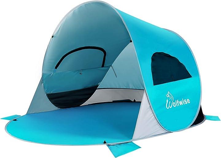 Tenda pop up istantaneo da spiaggia tenda automatica portabile per famiglia wolfwise WF-INS-B-1