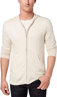 Mens Linen Lightweight Hooded Sweater