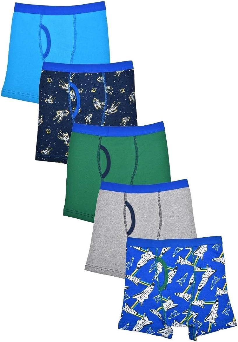 Wonder Nation Clothing Boy's Space Prints 5 Pack Boxer Briefs