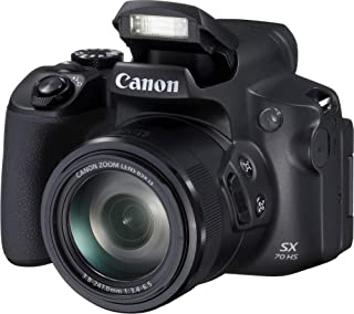 Canon PowerShot SX70 HS - Cámara Bridge de 20.3 MP (Zoom óptico de 65x DIGIC 8 10 fps Vídeo 4K LCD ángulo Variable) Negro