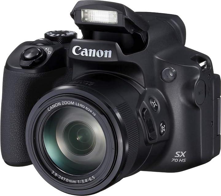 Canon PowerShot SX70 HS - Cámara Bridge de 20.3 MP (Zoom óptico de 65x DIGIC 8 10 fps Vídeo 4K LCD ángulo Variable) Negro