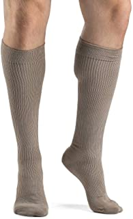 SIGVARIS Men's Casual Cotton 186 Calf High Compression Socks 15-20mmHg