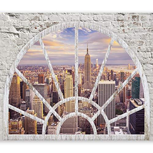 murando Papier peint intissé 200x140 cm Décoration Murale XXL Poster Tableaux Muraux Tapisserie Photo Trompe l'oeil Ville New York Fenetre d-A-0043-a-c